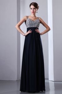 Straps Beading Navy Blue Homecoming Dresses for Brantford Ontario