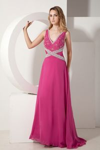 V-neck Appliques Beading Chiffon Homecoming Dress in Guelph Ontario