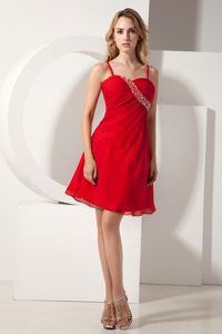 Knee-length Beads Straps Whitby Ontario Party Dress for Homecoming