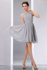 Scoop Neck Grey Homecoming Princess Dresses in Burlington Ontario