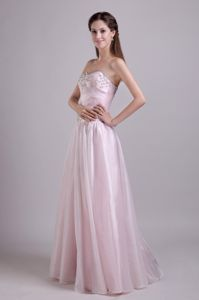 Organza Sweetheart Baby Pink Homecoming Party Dresses for Quebec