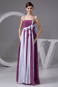 Washington Purple and White Ruched Designer Homecoming Dresses