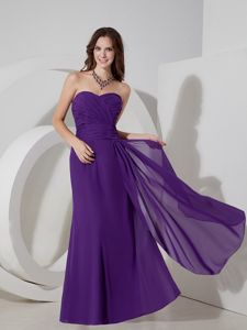 Purple Sweetheart Homecoming Cocktail Dresses Decorated Ruche