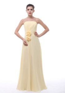 Missouri Flowers Decorated Light Yellow Sparkly Homecoming Dresses