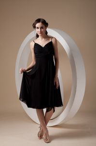 Spaghetti Straps Homecoming Dress in Black with Empire from Kansas