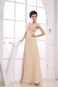 V-neck and Straps for Homecoming Princess Dresses in Champagne