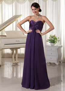 Beaded Sweetheart Dark Purple Homecoming Queen Dresses in Idaho
