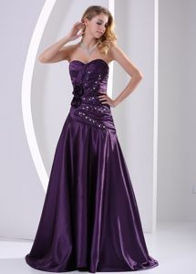 Eggplant Purple Sweetheart A-line Homecoming Dance Dresses in Cambridge