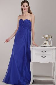Simple Royal Blue Floor-length Designer Homecoming Dress with Sweetheart