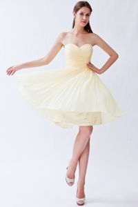 Light Yellow Sweetheart Knee-length Party Dress for Homecoming in Lebanon
