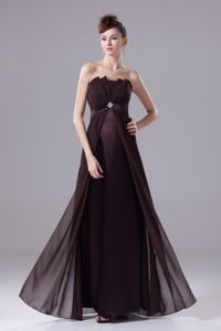 Grape Strapless Evening Homecoming Dress with Beading in Lincoln NE