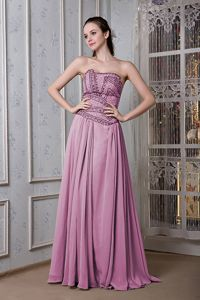 Lavender Strapless Party Homecoming Dress with Beading in Carson City NV