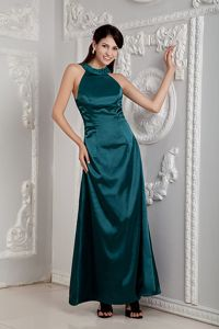 Hunter Green Scoop Homecoming Dress with Beading in North Carolina