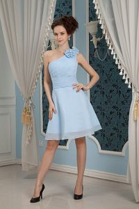 VKillington Ermont Cheap Homecoming Dresses with Flowers One Shoulder
