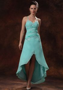 High-low Ruched Homecoming Dresses with Straps Appliques in Aurora Ohio