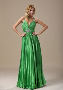 Spring Green Party Dress For Homecoming Pleats Beading in Boardman Ohio