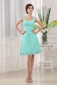 Apple Green Square Column Short-Length Homecoming Dress for Junior in Florida
