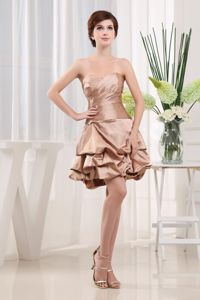 Sweetheart Mini-Length Homecoming Cocktail Dress with Pick-ups and Ruching