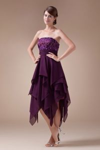 Appliques Empire Short Strapless Homecoming Princess Dresses for 2013 in Ellington