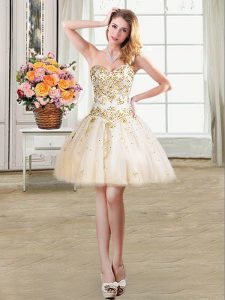 Suitable Sleeveless Beading Lace Up