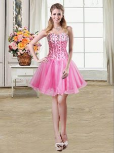 Sleeveless Lace Up Mini Length Sequins Junior Homecoming Dress