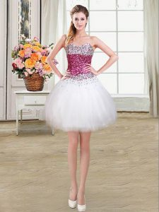 Fashion Sleeveless Beading Lace Up Homecoming Gowns