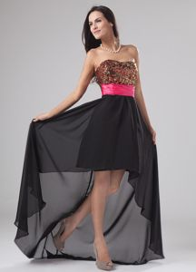 Paillette High-low Chiffon and Sequin Strapless Tight Homecoming Dresses in A-Line in Indiana