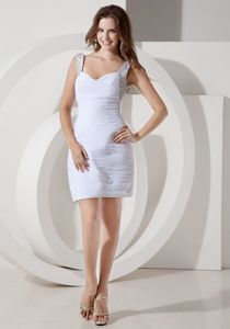 Straps Wedding Dress Chiffon Beaded Homecoming Queen Dresses in Mini-length from Lincoln