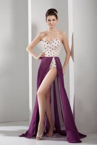 Column Sweetheart Style long Cute Homecoming Dresses in Purple in Annan