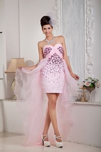 Baby Pink Sweetheart High-low Style Homecoming Dresses in Lochearnhead