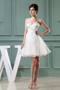 Beaded Decorated Shoulder Straps Party Dress for Homecoming in Earlston