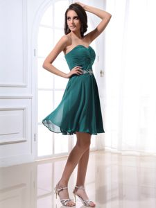 Ruching Sweetheart Beading Turquoise Inexpensive Homecoming Dresses in San Diego