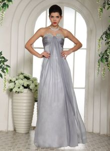 Ruched Gray Beaded Sweetheart Stylish Designer Homecoming Dresses in Santa Fe