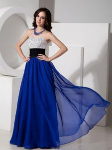 Beading Remarkable Royal Blue Sweetheart Homecoming Dance Dress in Scottsdale