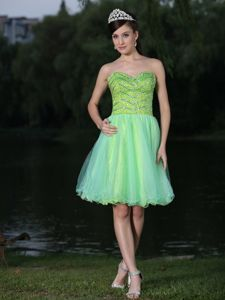 Sweetheart Beaded Spring Green Latest Inexpensive Homecoming Dresses in Sedona