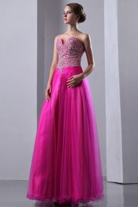 Dublin Strapless Fuchsia Lace-up Sweetheart Homecoming Princess Dresses