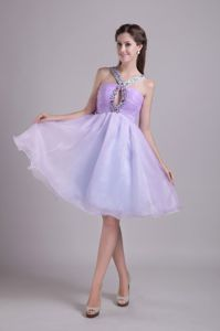 Lilac A-line V-neck Short Vintage Homecoming Dresses in Barrington