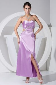Lilac Sweetheart Homecoming Court Dress with High Slit in Switzerland