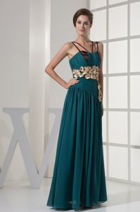 Turquoise V-neck Beaded Column Long Vintage Homecoming Dress in Spain