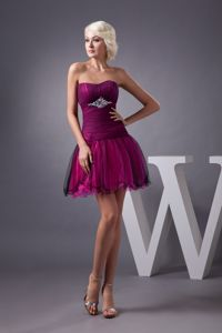 Sweden Fuchsia Sweetheart Tulle Short Inexpensive Homecoming Dresses