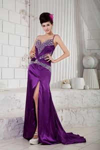 Sexy Eggplant Purple Taffeta Party Dresses for Homecoming in Honolulu