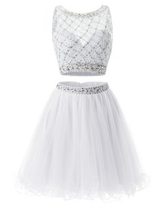 Organza Sleeveless Mini Length Homecoming Dress Online and Beading and Belt