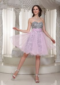 Organza Zebra Sweetheart Designer Homecoming Dresses in Cedar Falls