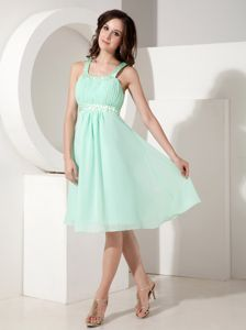 Knee-length Chiffon Evening Homecoming Dress with Beading in Albany
