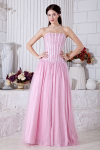 2013 Beaded Baby Pink Celebrity Homecoming Dress in the Mainstream