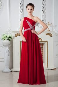 Modernist One Shoulder Red Evening Homecoming Dress in Gary USA