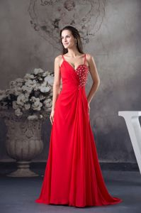 Column Beaded Spaghetti Straps Best Party Dresses for Homecoming