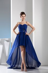 Sweetheart High Low Chiffon Beautiful Dress Best for Homecoming