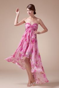 Newest High-low Sweetheart Best Homecoming Dress for Teenage