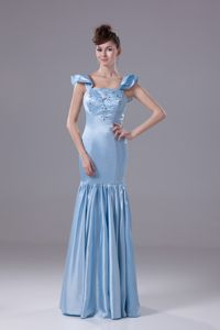 Square Mermaid Ruched Sparkly Dresses for Homecoming with Beading